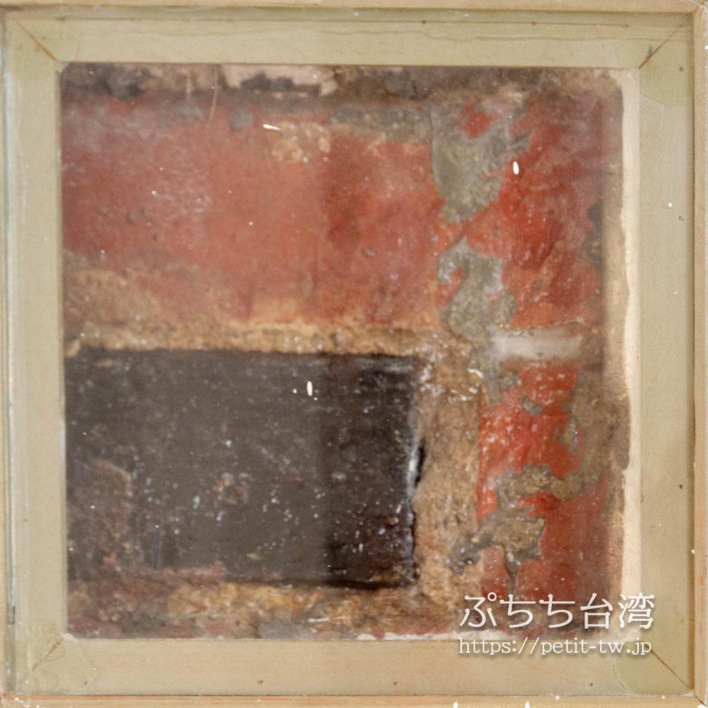 旧台中市役所の古い外壁の赤レンガ