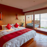 ザ ラルー サンムーンレイク 涵碧樓の客室のベッドルーム