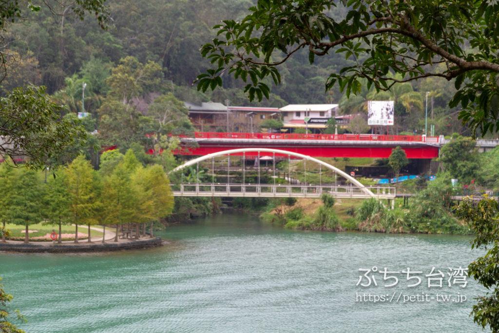 日月潭の橋