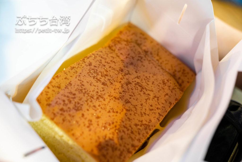 台北の源味本鋪 古早味 現烤蛋糕の台湾カステラ
