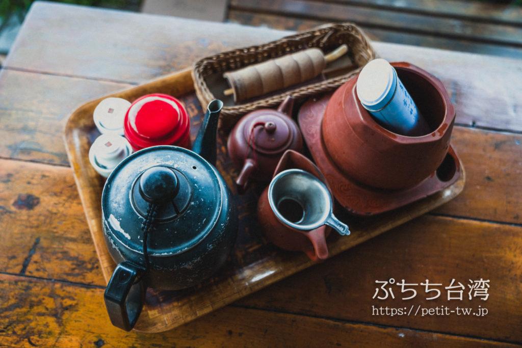 邀月茶坊の台湾茶の工夫茶