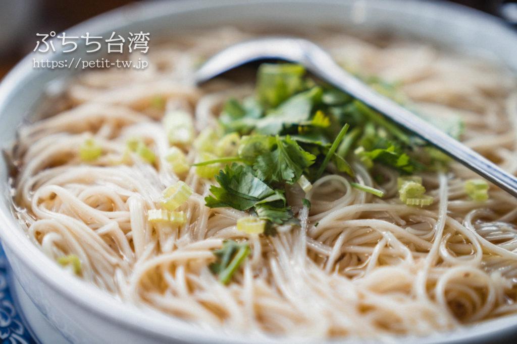 邀月茶坊のご飯メニューの麺線