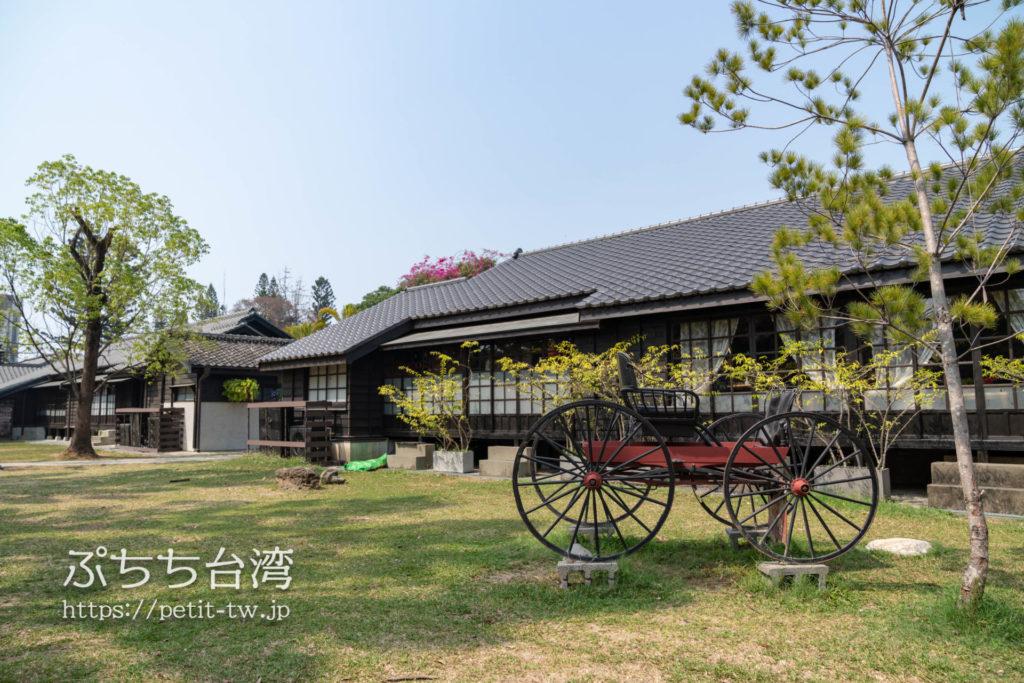 台湾嘉義の檜意森活村(ヒノキヴィレッジ、Hinoki Village)の庭園