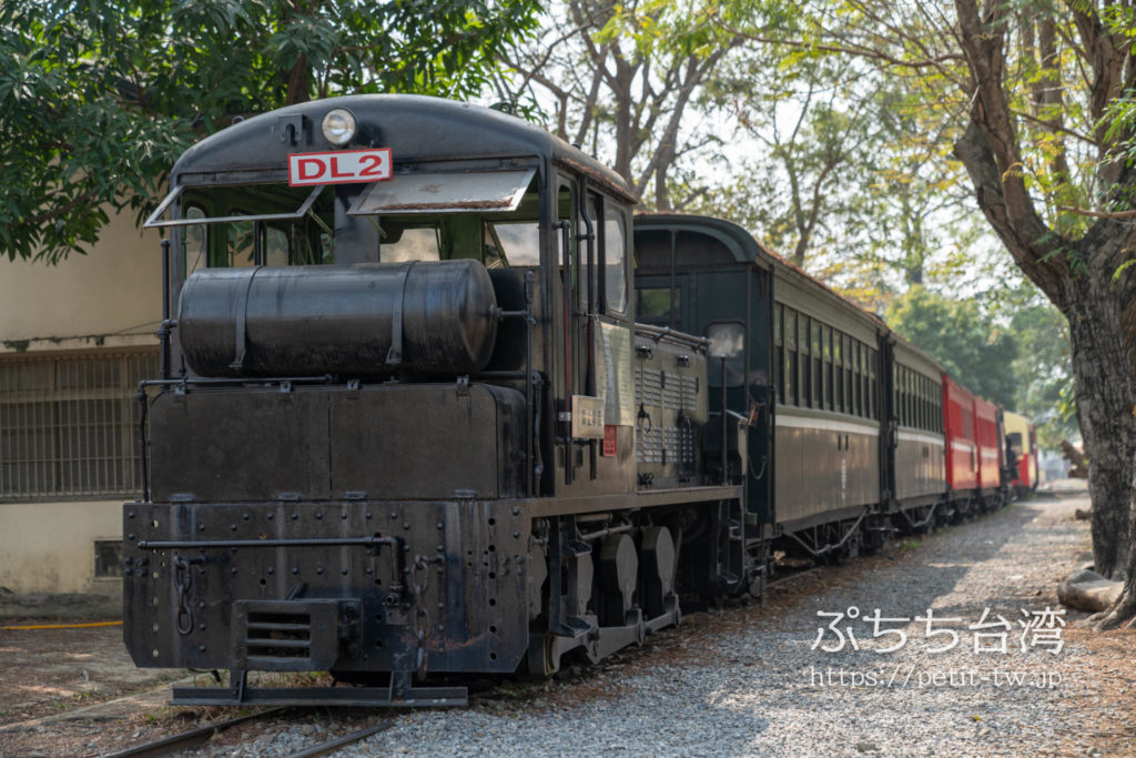 阿里山森林鉄路車庫園区の車両