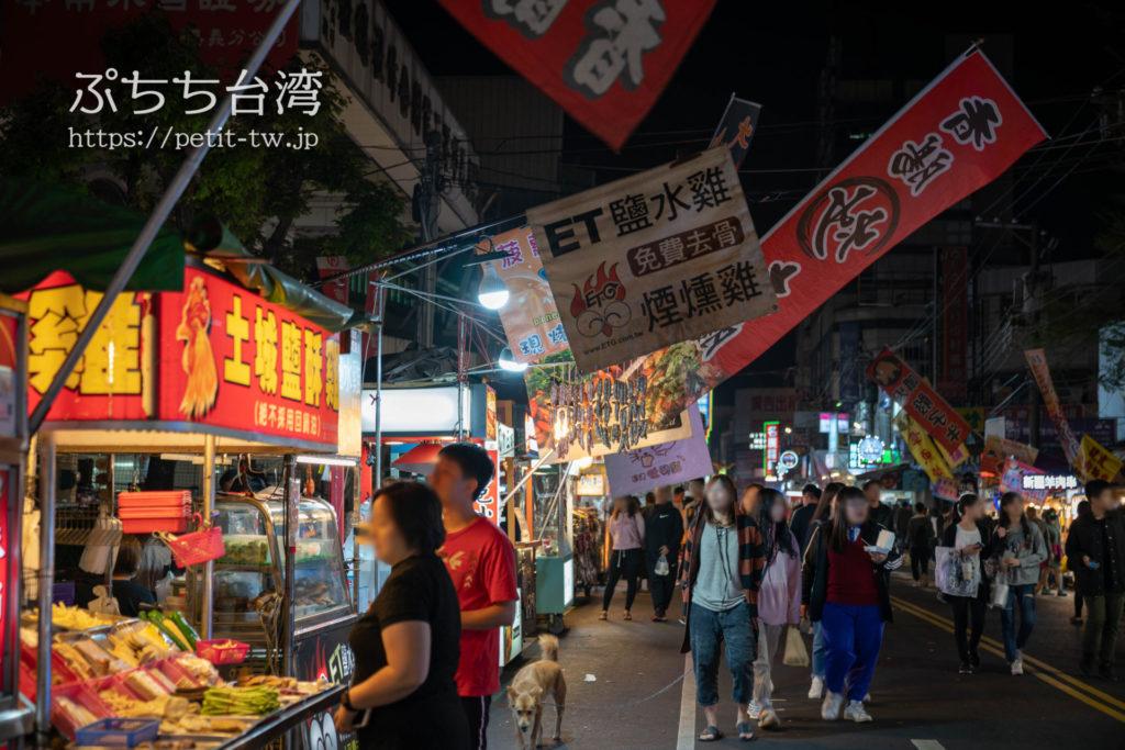 台湾の嘉義の文化路夜市