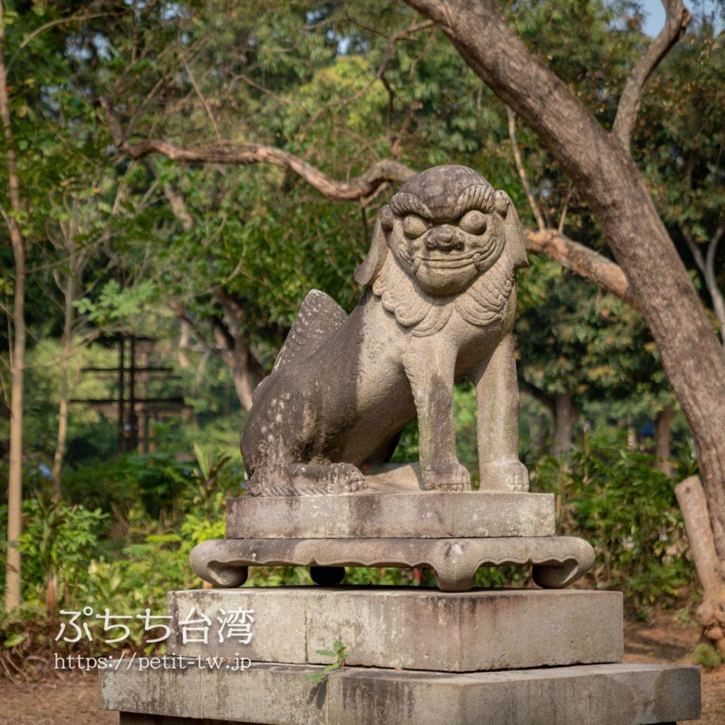 台湾の嘉義公園にある狛犬