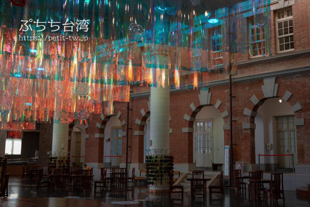 国立台湾文学館、旧台南州庁の赤レンガとアーチ