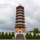 日月潭の慈恩塔の外観