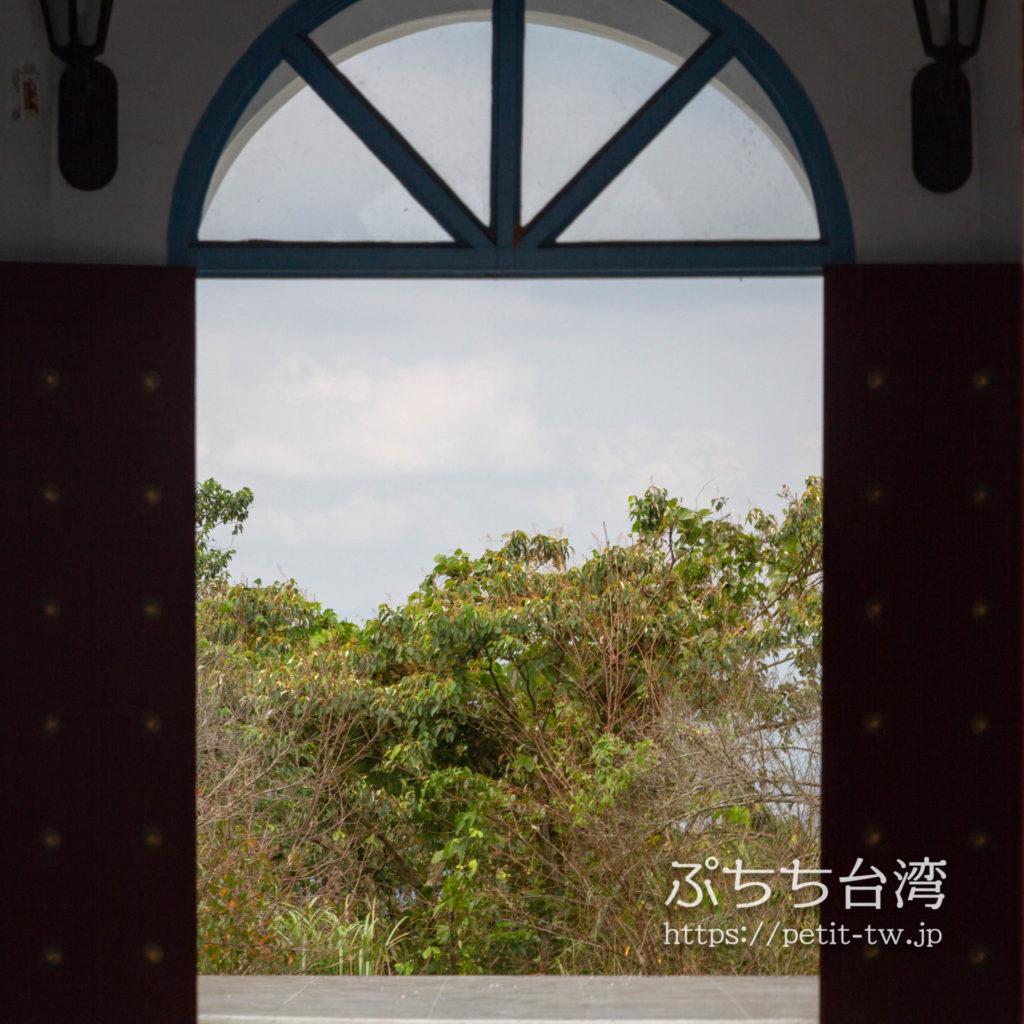 日月潭の慈恩塔の入り口