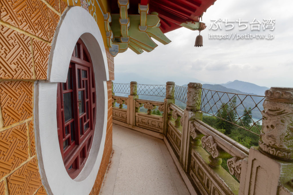 日月潭の慈恩塔からの眺め