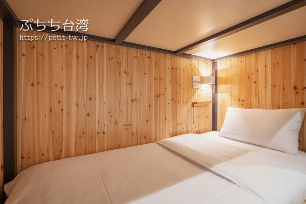 スターホステル台北イースト Star Hostel Taipei Eastのツインルームのベッド
