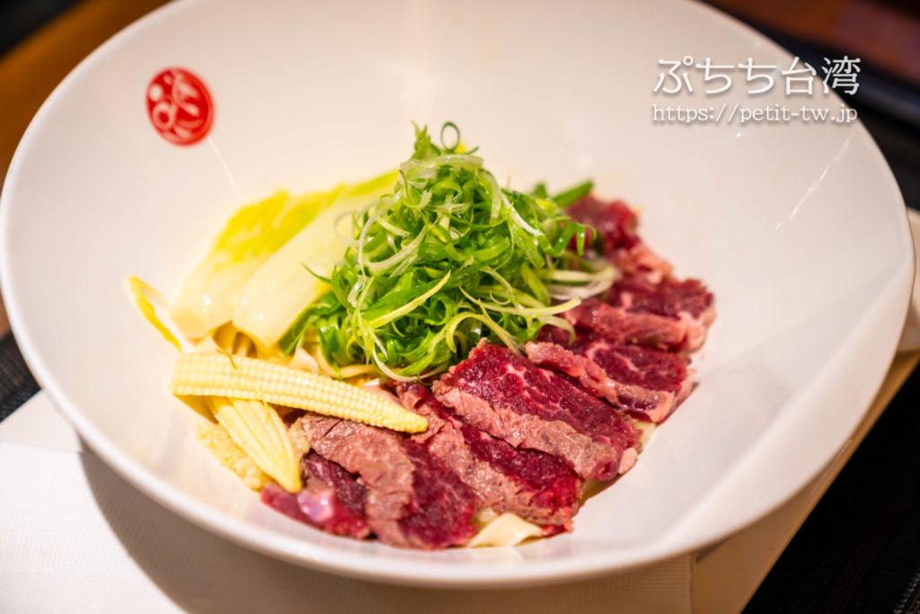 品川蘭のレア牛肉麺
