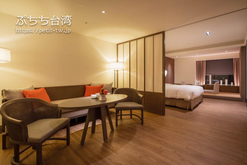 シルクスプレイス台南(Silks Place Tainan、台南晶英酒店)のジュニアファミリースイート Junior Family Suite客室