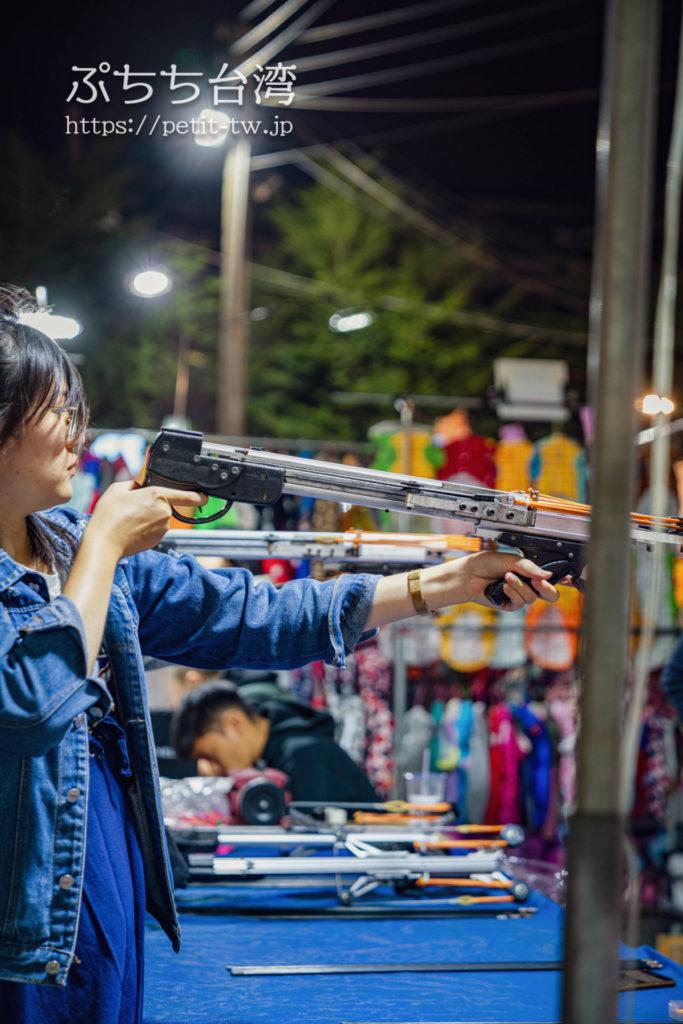 台南の花園夜市の射的