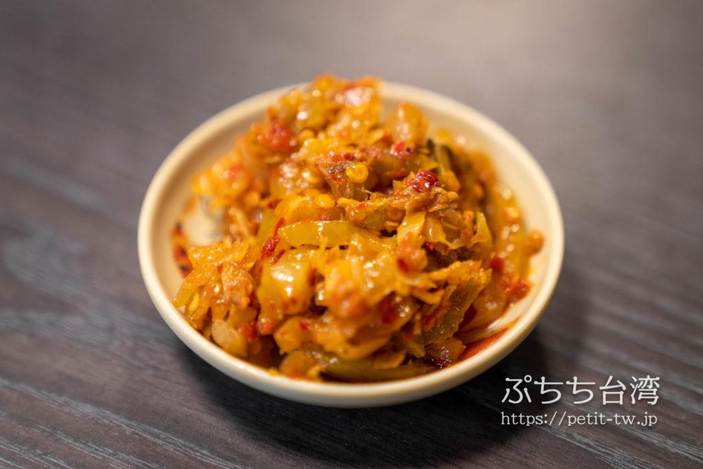 原郷牛肉拉麺、原鄉牛肉拉麵のザーサイ