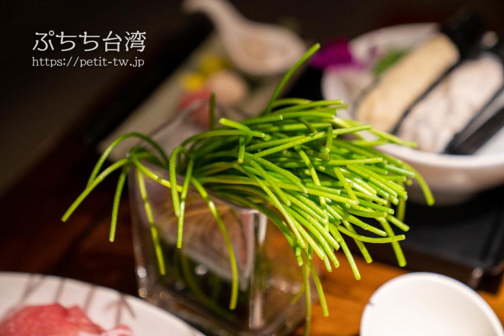 無老鍋のトッピング、具材の野菜