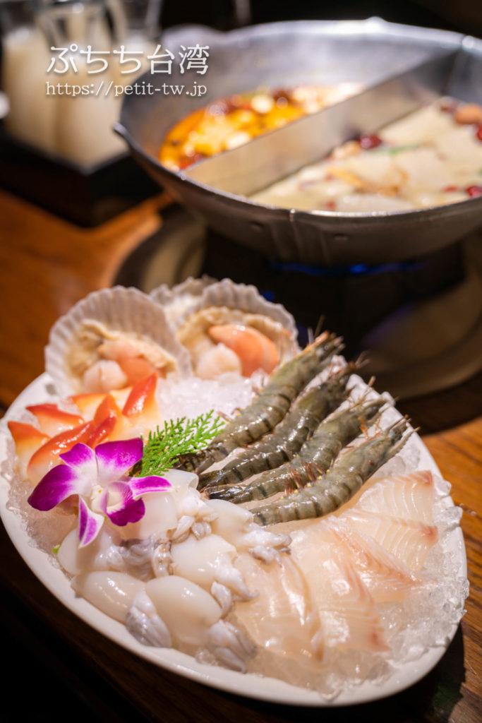無老鍋の具材の海鮮