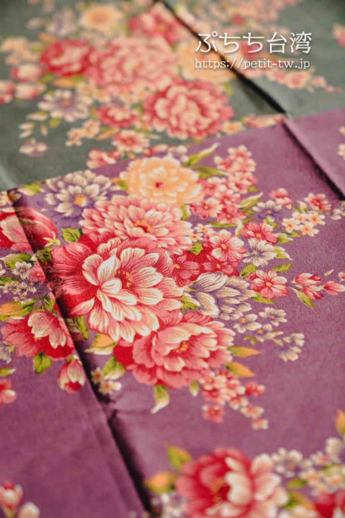 台北の永楽市場の布市場の問屋、聖欣布行の客家花布