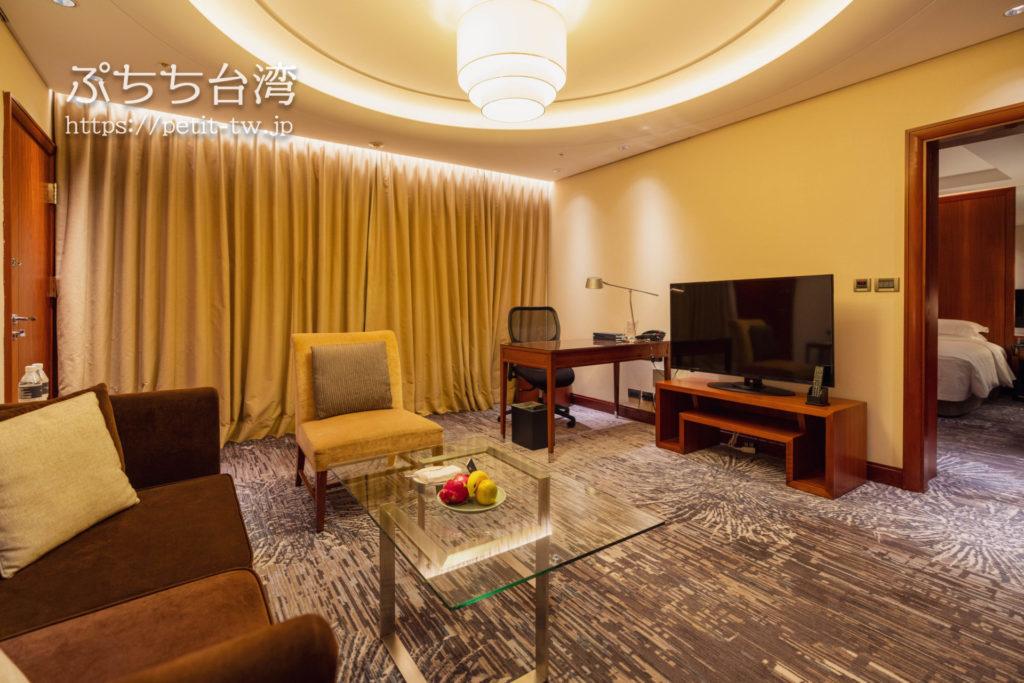 シェラトングランド台北ホテル ディプロマティックスイートキングのリビングルーム