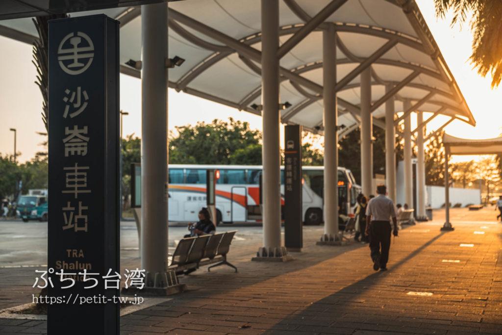 沙崙車站前のバス乗り場