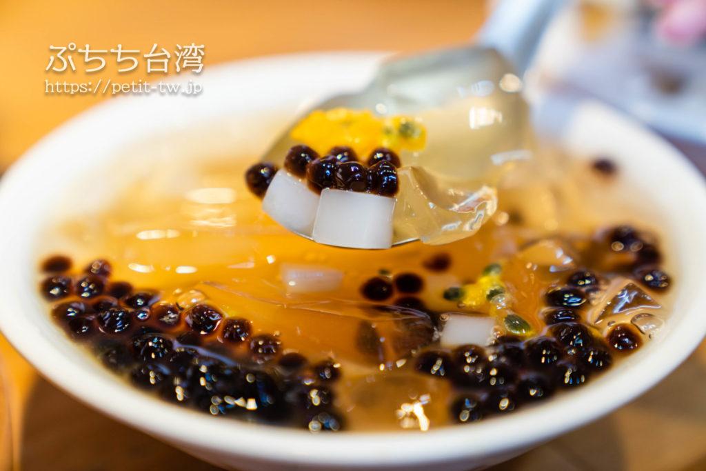 台南の清水堂の愛玉タピオカレモン