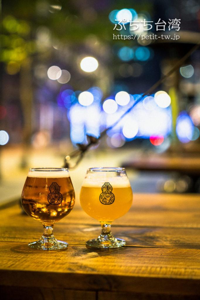 啜飲室 Landmark(Craft Beer Tap Room、臺虎精釀 Taihu Brewing)の臺虎ビール、タイフークラフトビール