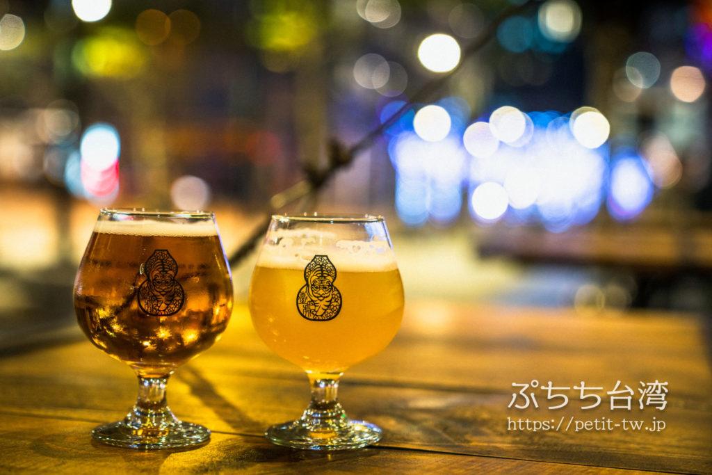 啜飲室 Landmark(Craft Beer Tap Room、臺虎精釀 Taihu Brewing)の臺虎ビール、タイフービール