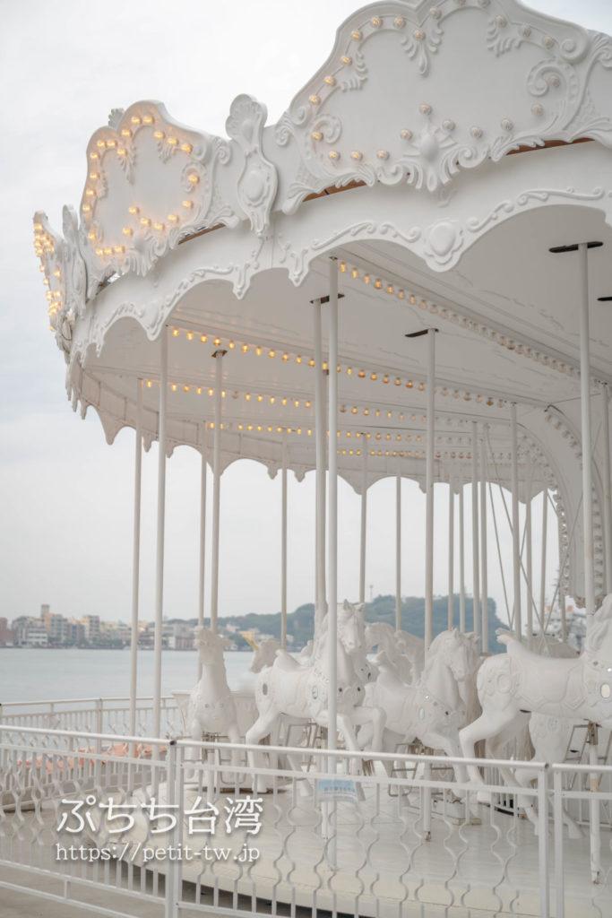 高雄の棧貳庫 KW2の白いメリーゴランド