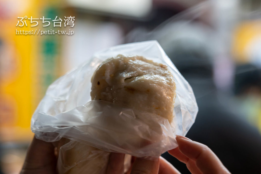 士林夜市の原上海生煎包の焼き饅頭