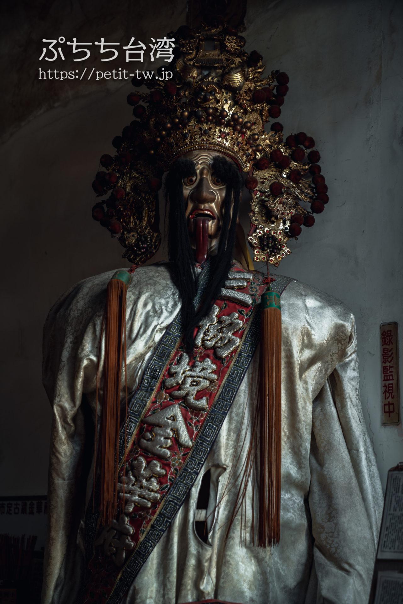 台南の神農街 金華府の廟内の像