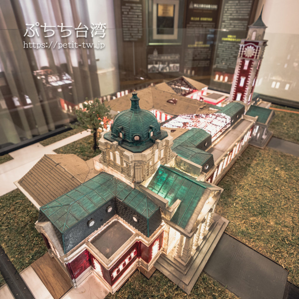 国定古跡台南地方法院(旧台南地方法院)の館内の建物模型