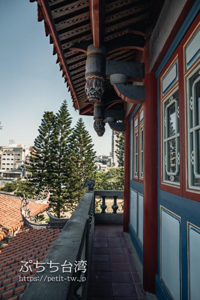 赤崁樓(赤崁楼)のバルコニー