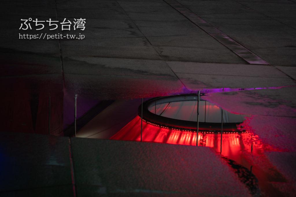 大東文化藝術中心 大東文化芸術センター、夜のライトアップ